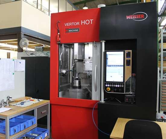 Vertor C vertical turning machine with Weisser HOT system