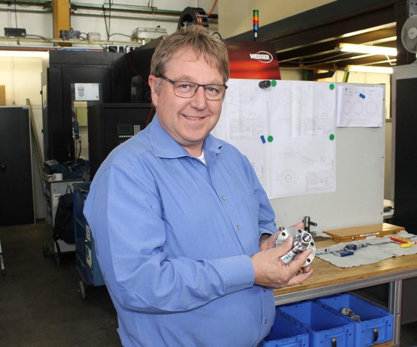 Reiner Jörg, head engineer of machine tool builder Weisser's R&D department