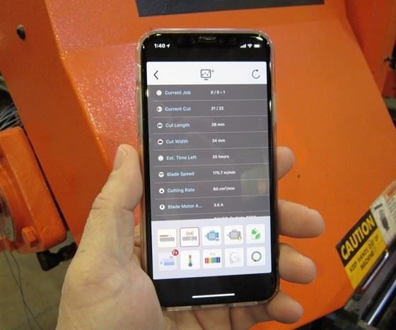 Cosen app for CNC saws for blade life prediction
