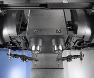 ¿Por qué un centro de mecanizado vertical (VMC) de dos ejes? Duplique el mecanizado sin duplicar el espacio utilizado