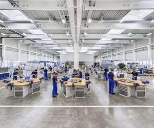 Grob trains 320 apprentices at its headquarters in Mindelheim, Germany.