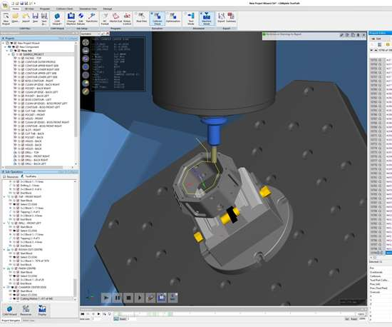 Screenshot of CAM software