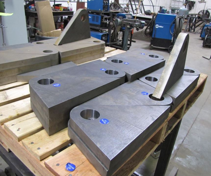 these machined parts are the result of enterprise resource planning and quoting system for fabricators