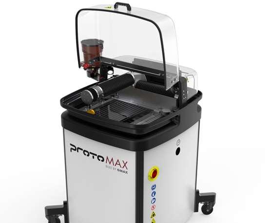 Omax's ProtoMax abrasive waterjet
