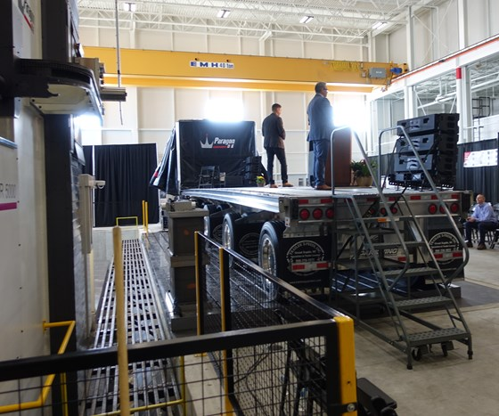 Autodesk Smart MFG stage on a truck bed.