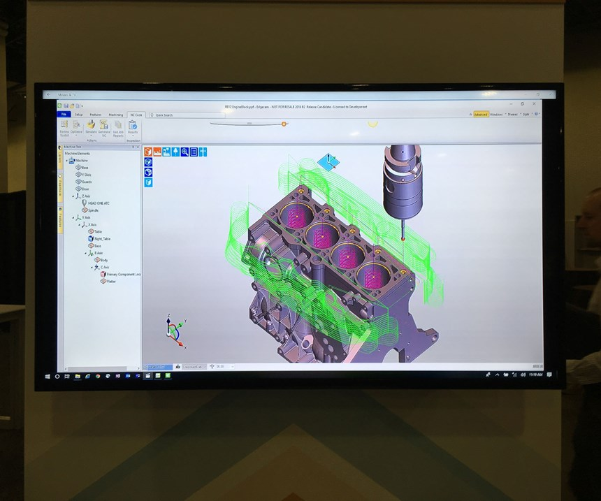 A CAM software screenshot illustrates Edgecam Inspect, Vero Software's new system for measuring on machine tools.