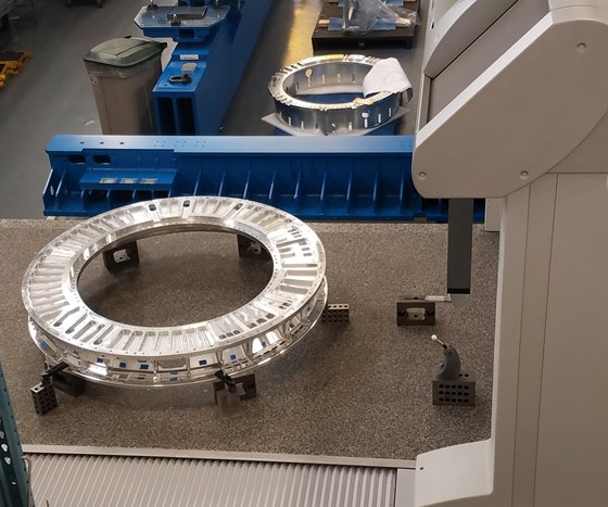 The LSST back flange on Keller Technology's Global CMM