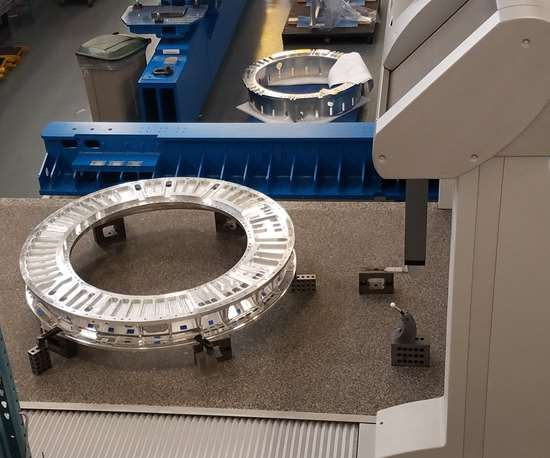 The LSST back flange on Keller Technology's Global CMM