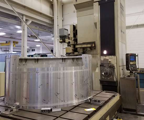 The LSST camera housing on Keller Technology's Toshiba Shibaura BF-130B