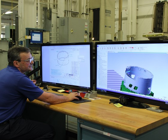 Scott Steggs, CAD/CAM manufacturing engineer at Keller Technology, working in Mastercam