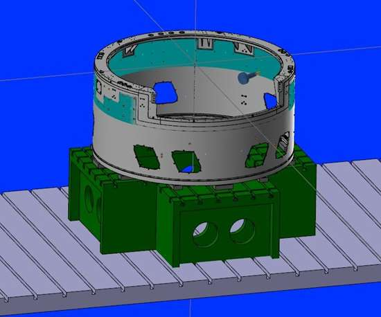 LSST camera housing in Mastercam