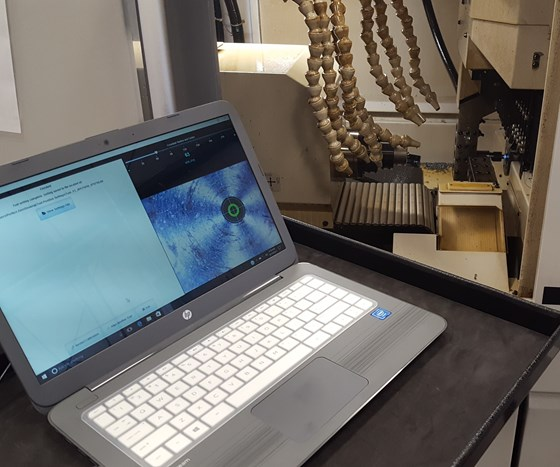 camera for aligning lathe spindles and tools