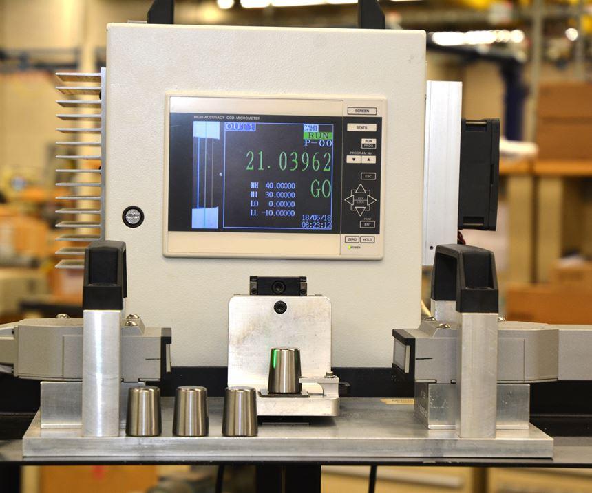 thrubeam optical micrometer