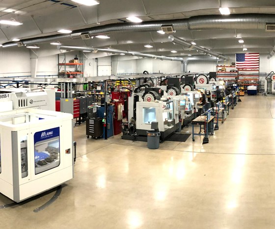 The main machining area of Flying S's manufacturing complex