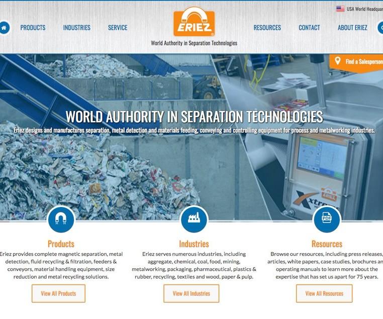 eriez.com homepage