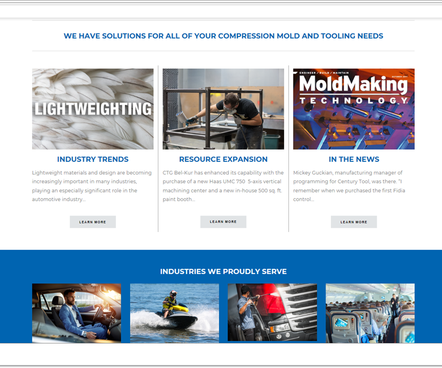 homepage of centurytool.com