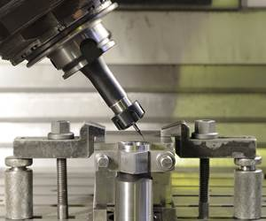 a spindle-mounted touch probe in a machining center