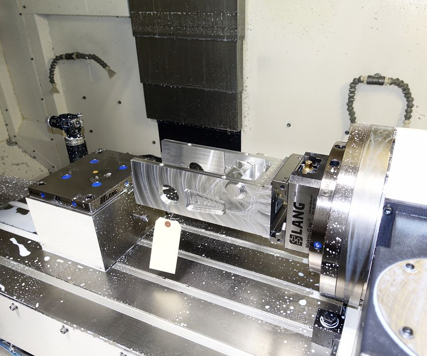 Aluminum block, roughing operation