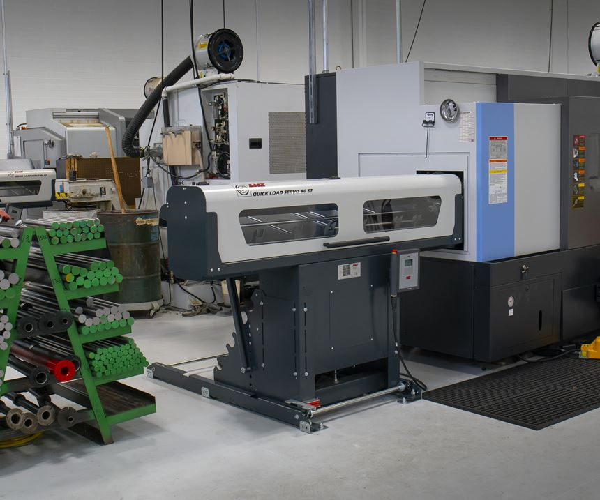 machining cell with LNS Quick Load Servo 80 S2