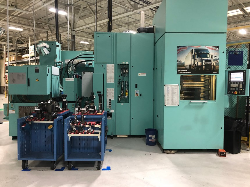 Heller Machine and tooling used for machining of axle housing