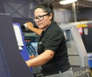 Elena Rodriguez operates machines at Pioneer Service