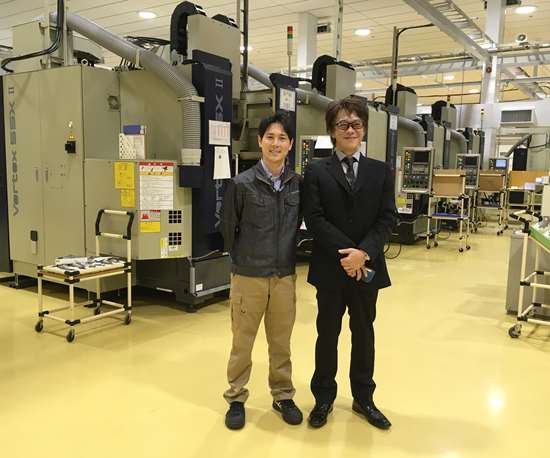 Kazuhiro Mizuta, AeroEdge chief technical officer, and Jun Morinishi, president and CEO