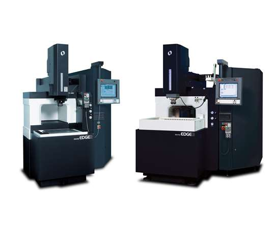 Makino's Edge2 and Edge3 electrical discharge machines (EDMs)