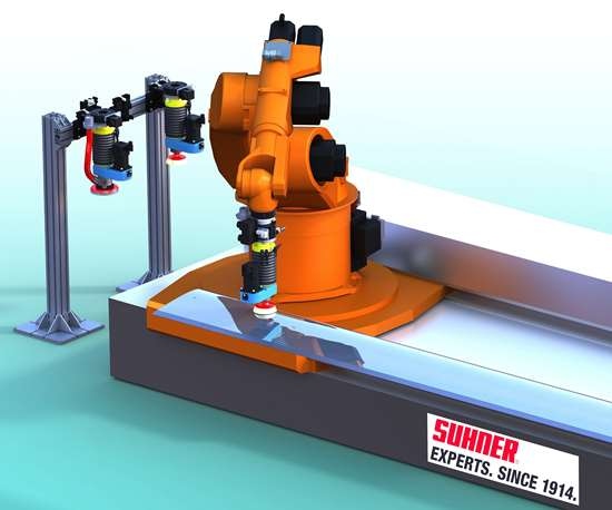 Suhner RobotSander surface treatment solution