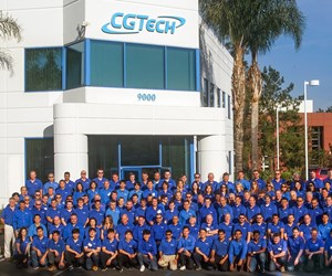 CGTech employees outside the company's office