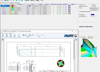 Screenshot of Numroto tool grinding software