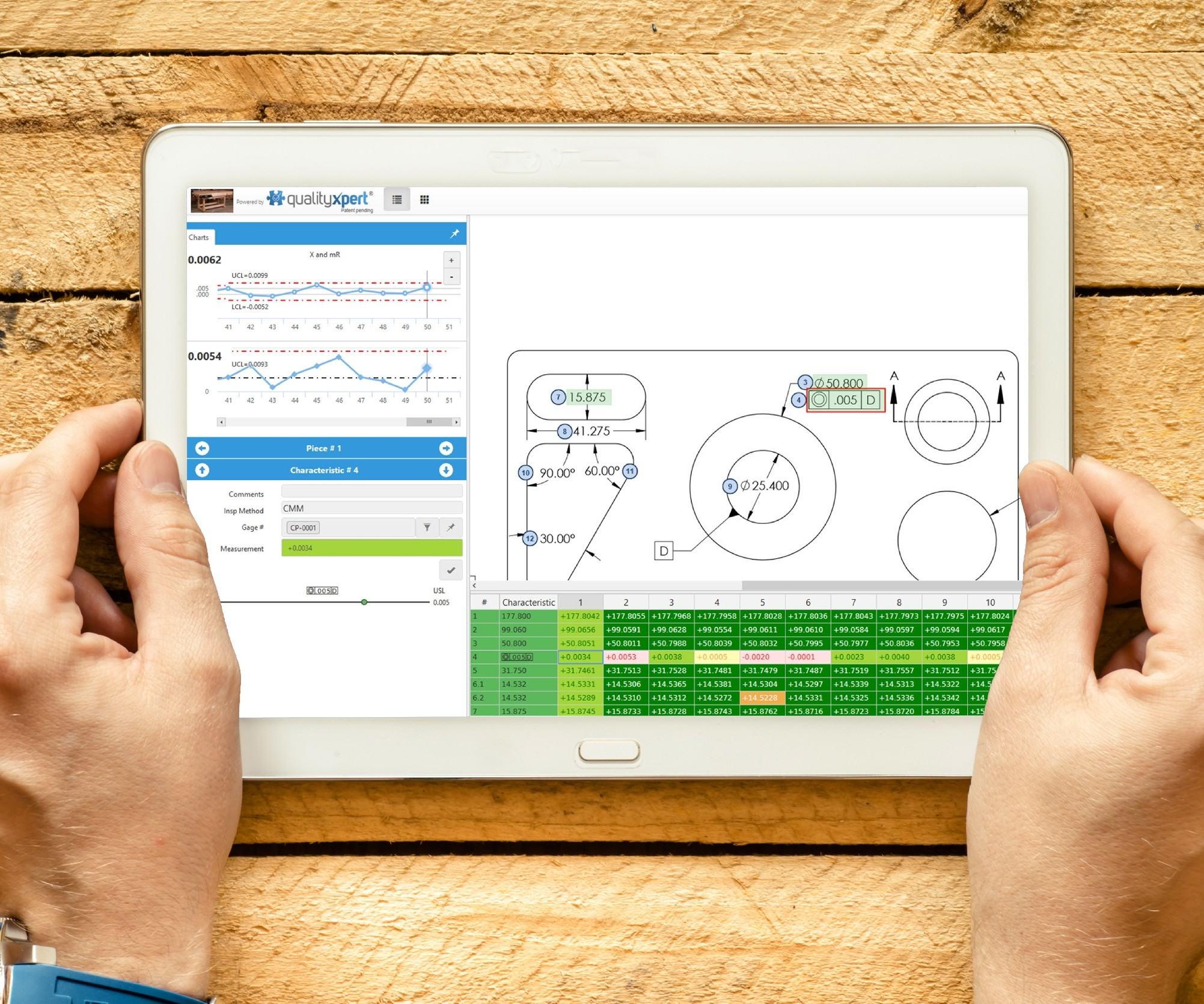 InspectionXpert inspection software on a tablet