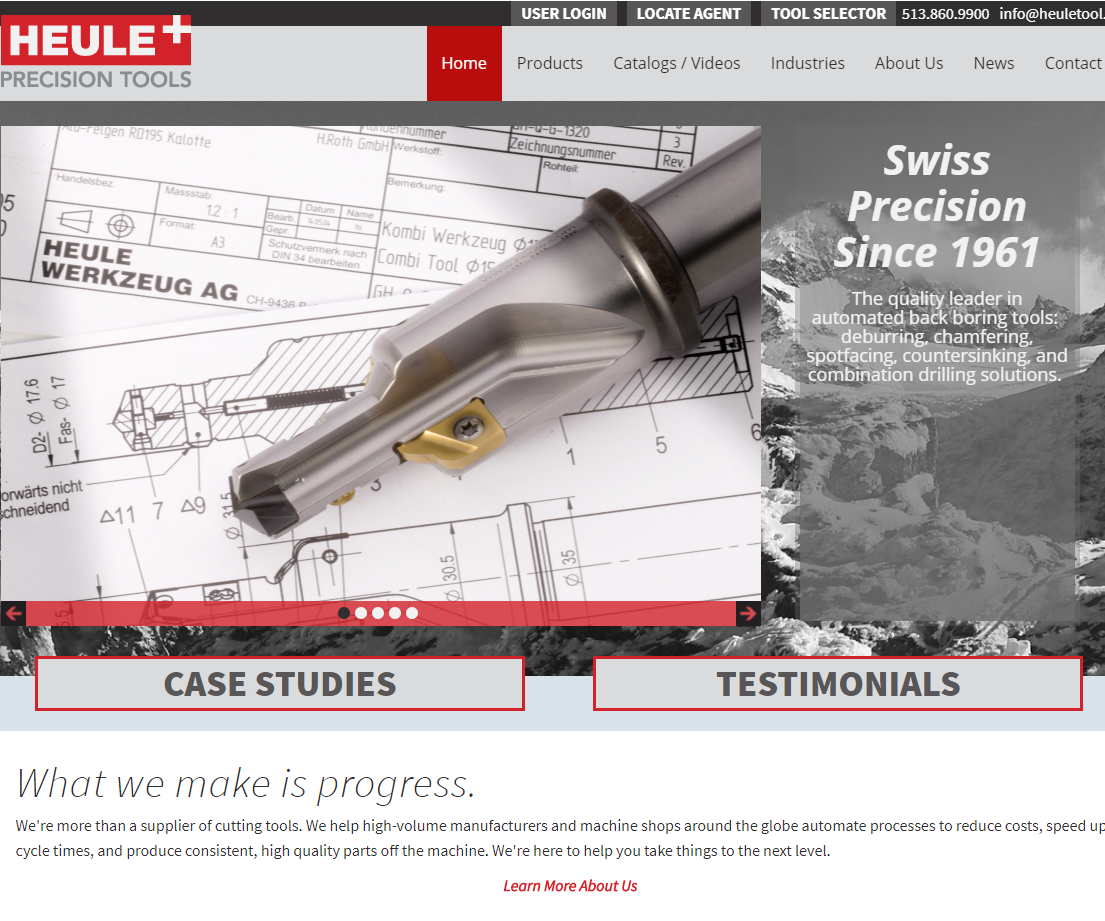 Screenshot of the Heule Tool website