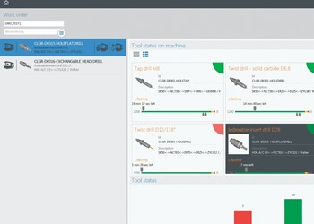 Screenshot of TDM Shopfloor Manager software