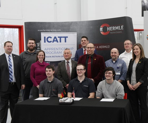 attendees of the partnership signing