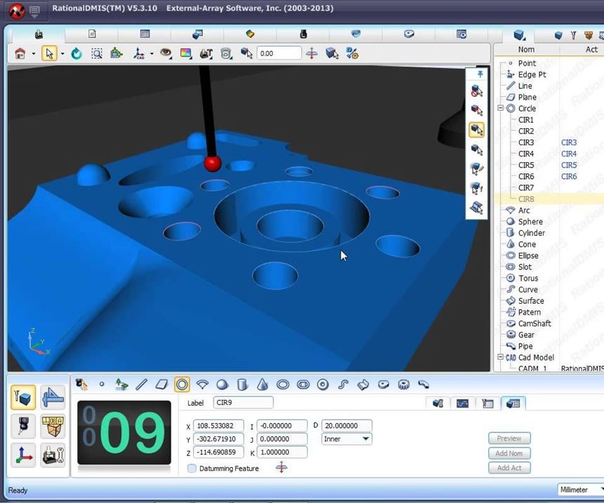 RationalDMIS software