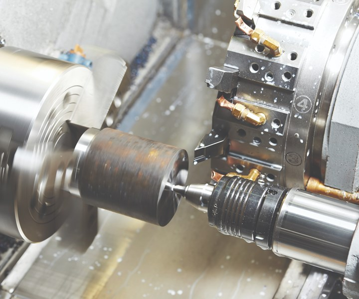 lathe being turned