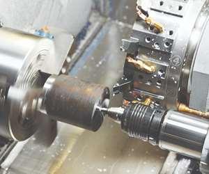 stock image of a turning machine