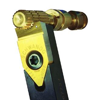 Broaching Tool Eliminates Cleaning Process for Serrated Turned Parts