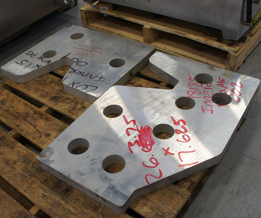 Examples of parts cut on IMC's waterjet.