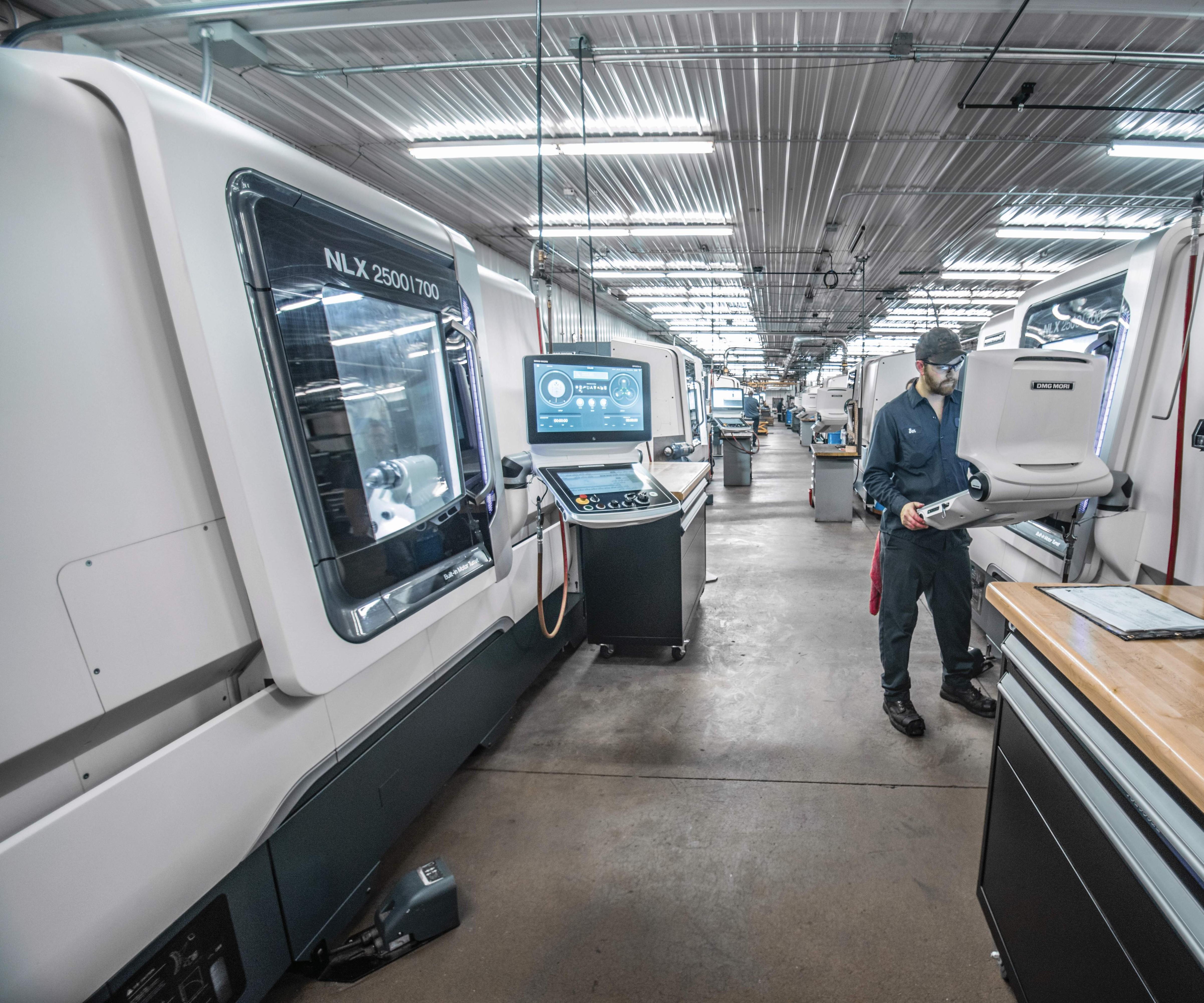 shop floor of J&R Machine