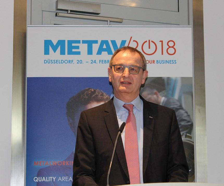 VDW's Executive Director Dr. Wilfried Schäfer at Metav 2018