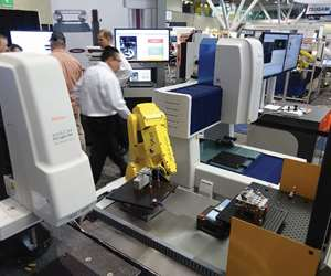 CMMs on a trade show floor