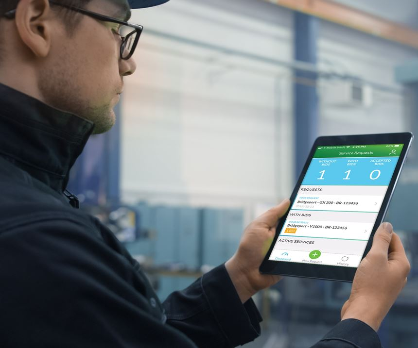Man using Up app on a tablet
