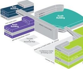 Layout of McCormick Place