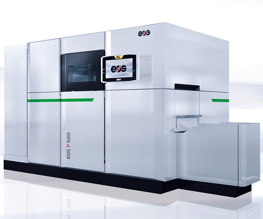 EOS will display its EOS P 500 3D printer at IMTS 2018.