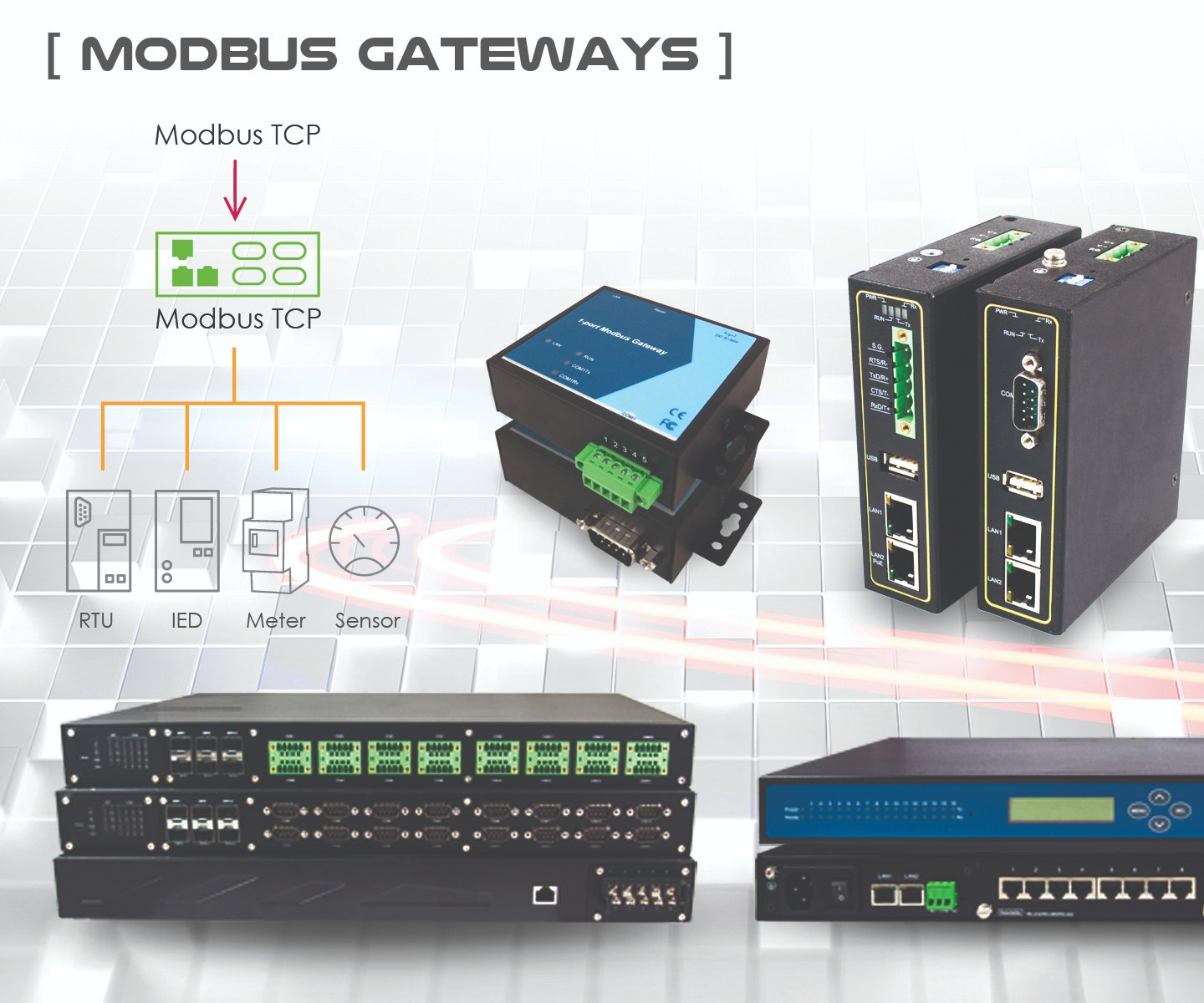 Mencom will display its Modbus Gateway series at IMTS 2018
