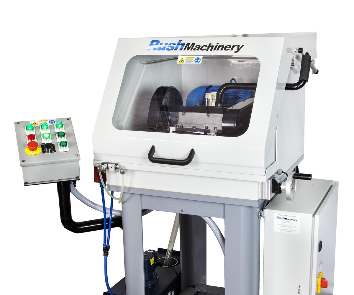 Rush Machinery will display its Rush Easy-Cut XL carbide cut-off machine at IMTS 2018.