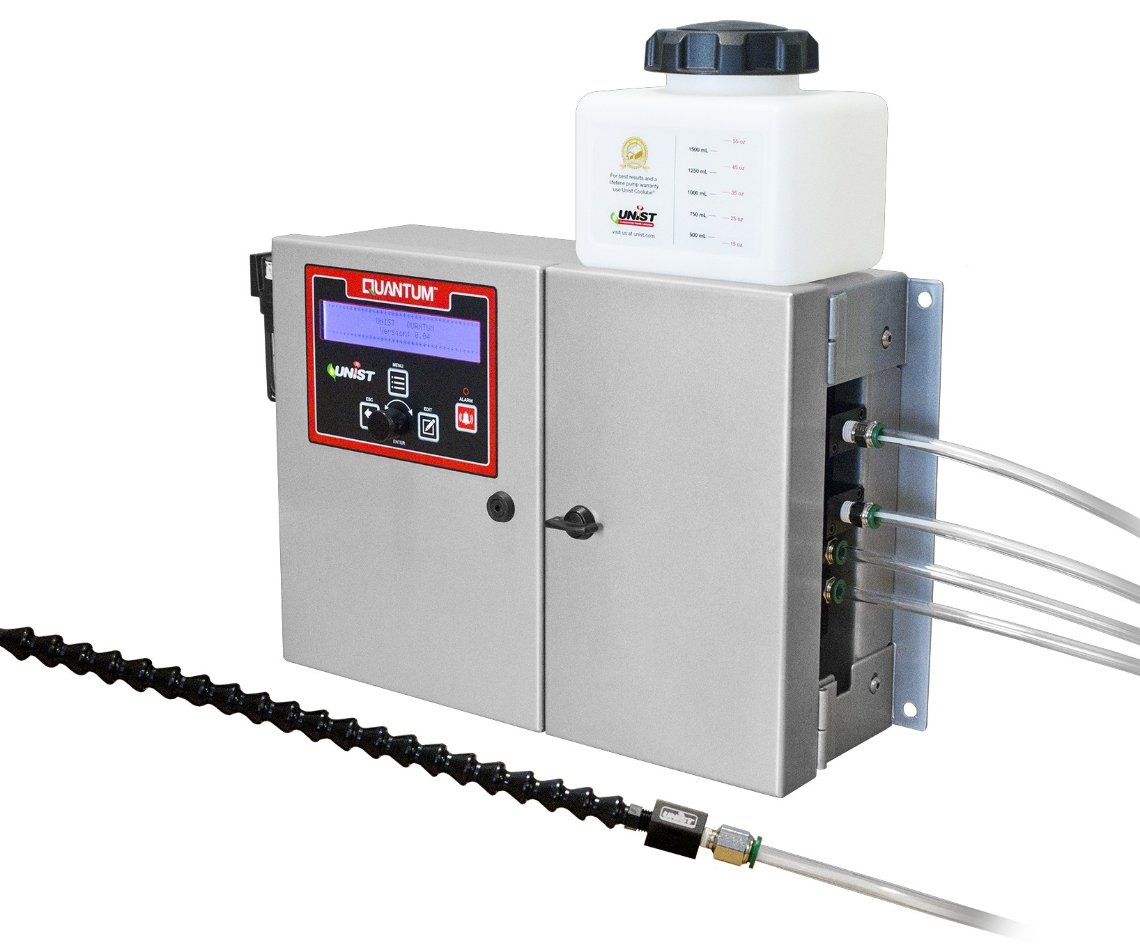 Unist will display its Quantum minimum quantity lubrication unit at IMTS 2018.
