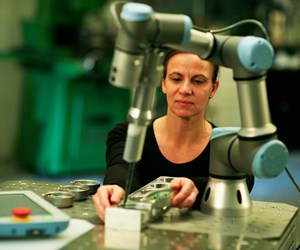 Universal Robots' UR3 cobot in action