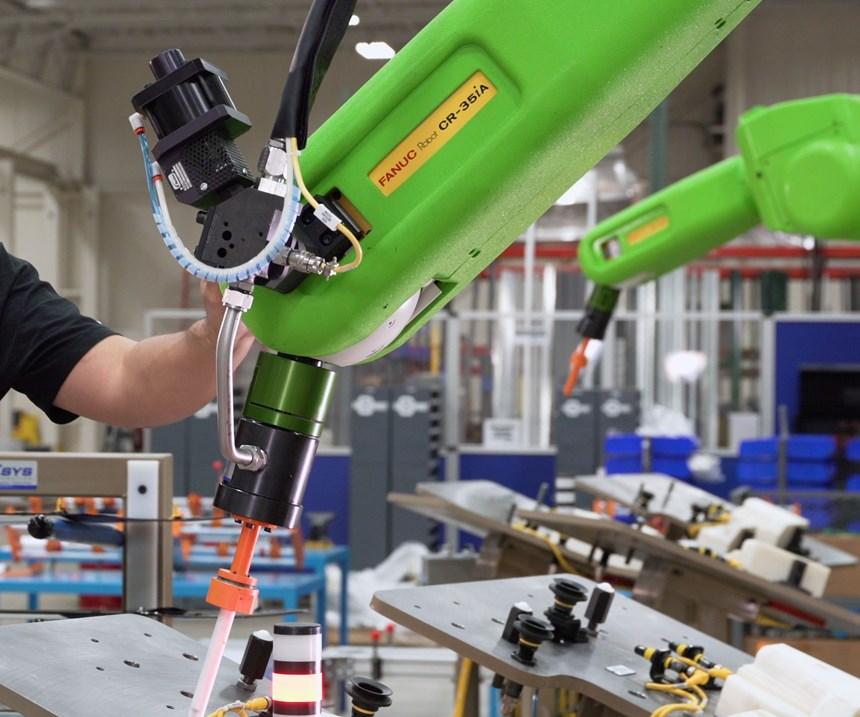Collaborative robot at IMTS 2018.